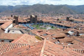 Cusco met de kerst