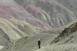 Trekking door Sham