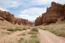 Charyn Canyon - Over de bodem van de canyon