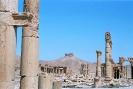 Palmyra - Hoofdstraat met kasteel op achtergrond