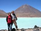 San Pedro to Uyuni - Bij Laguna verde en Volcan Licancabur