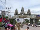 De grensovergang naar Cambodja