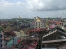 Yangon - Uitzicht vanaf het dakterras van The White House