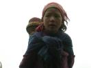 Langtang trekking - Meisje ontmoet tijdens de trekking