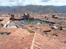 Cusco - Uitzicht over plaza Cusco met kerstmarkt