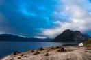 Kamperen bij het stuwmeer Lake McIntosh