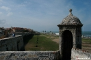 Cartagena - stadsmuur aan zee